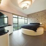 2-dormitor mare cu pat matrimonial rotund