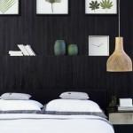 2-dormitor modern perete accent culoare neagra