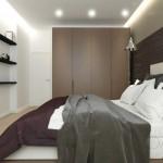 2-dulap maro mare in amenajarea unui dormitor modern de 10 mp