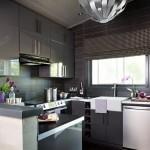 2-dupa renovare bucatarie moderna decorata in nuante de gri