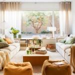 2-efectul decorativ al perdelelor in amenajarea unui living