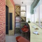 2-exemplu de amenajare a unui loc de luat masa in balconul alaturat bcuatariei