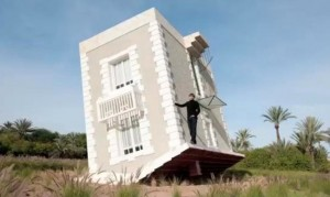 2-exterior casa cazuta din cer creatie artist jean francois fourtou
