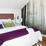 2-fototapet imagine padure decor perete dormitor mansarda