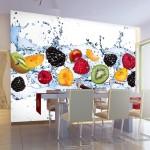 2-fototapet imprimeu fructe exotice decor perete bucatarie