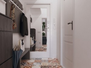 2-hol mic garsoniera amenajat modern stil scandinav