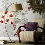 2-idee decor perete living combinatii tapet stil patchwork