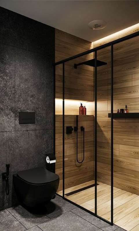2-idee-design-baie-mica-pereti-gri-interior-dus-faianta-imitatie-lemn