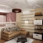 2-idei amenajare dormitor si living in aceeasi camera