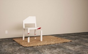 2-iluzie optica scaun taiat cratie design inedit Peter Bristol