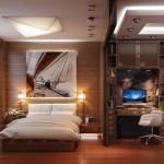 2-impartirea unei camere lungi si inguste in mai multe zone de interes
