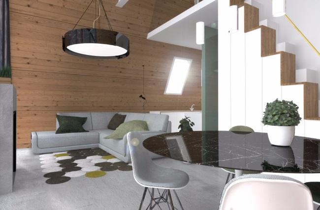 2-interior iving modern casa prefabrciata din lemn MADI Home