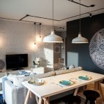 2-living alb negru si gri apartament modern