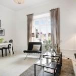 2-living apartament doua camere foarte mic amenajat stil scandinav