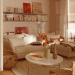2-living modern amenajat in alb si nuante pastelate dupa renovare