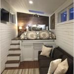 2-living multifunctional cu dormitor situat deasupra unei platforme cu spatii de depozitare