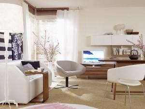 living si bucatarie moderna open space dupa reamenajare