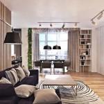 2-living si sufragerie finisate si decorate cu lemn