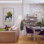 2-loc de luat masa in living open space apartament modern 3 camere