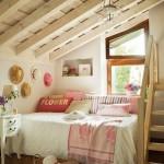 2-mic dormitor romantic amenajat in manasrda