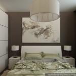 2-mobila alba pereti gri si draperii verzi amenajare dormitor 12 mp