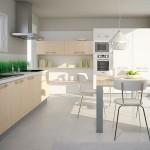 2-mobila moderna bucatarie culori alb si fag