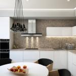 2-mobila pe colt in amenajarea unei bucatarii moderne minimaliste