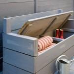 2-mobilier balcon bancuta din lemn cu spatiu de depozitare sub sezut