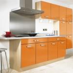 2-model mobila liniara culoare portocalie bucatarie