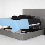 2-model pat cu spatiu depozitare sub saltea cu mecanism simplu de ridicare a saltelei