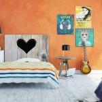2-model tablie de pat imitatie lemn cu inimioara decupata Noyo Home