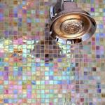 2-mozaic de sticla iridiscent cu aspect sidefat