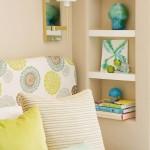 2-nisa verticala ingusta cu polite decor perete dormitor