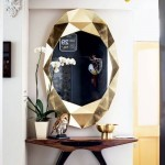 2-oglinda in rama aurie de inspiratie geometrica