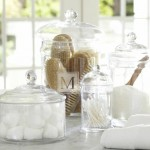 2-pastrare organizare si depozitare obiecte igiena baie sticle si borcane goale