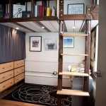 2-pat suspendat cu rafturi proiectate in laterala amenajare spatii mici