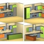 2-patru variante de configurare a mobilierului de bucatarie