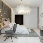 2-perete accent si fotoliu suspendat amenajare dormitor modern