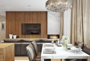 2-perete decorat cu lemn decor living apartament modern cu 4 camere