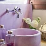 2-perete si lavoar baie culoare mov