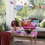2-pernute si accesorii textile colorate decor de vara pentru terasa sau gradina