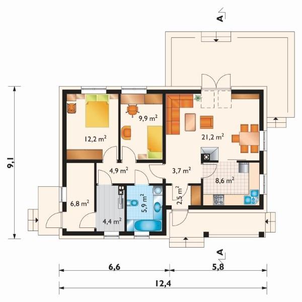 plan compartimentare casa 80 mp