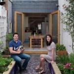 2-proprietarii casei inguste de doar 2-3m latime din Londra