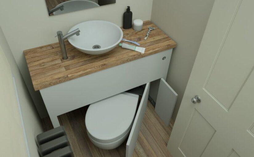 WC-ul rabatabil – inventie pentru baile minuscule