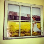 2-rama foto din fereastra veche din lemn