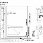 2-schema montaj wc suspendat cu rezervor si sistem evacuare ascunse in perete