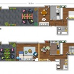 2-schita apartament inainte si dupa reconfigurare si reamenajare