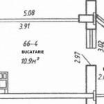 2-schita bucatarie de aproape 11 metri patrati