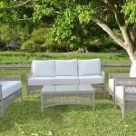 2-set canapea fotolii si masuta Hampton eMag