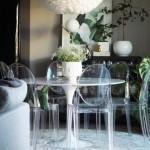2-set de masa cu scaune transparenta amenajare loc de luat masa